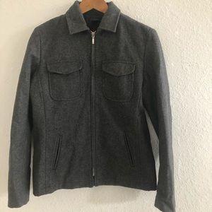 J Crew Dark Grey wool Jacket Size M